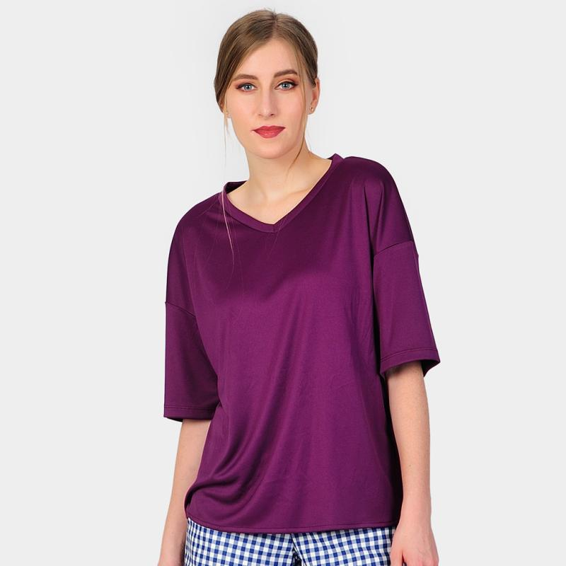 SJO&SIMPAPLY Hand Loose Women's Blouse - Purple