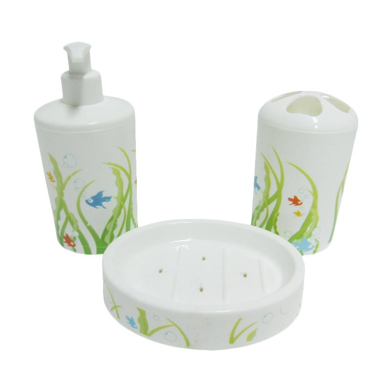 TITIZ Washstand set Wrapped Motif Ikan - Hijau