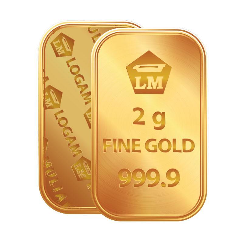 Antam Logam Mulia Keping Emas [2 g/ 999.9% Fine Gold Certificate]