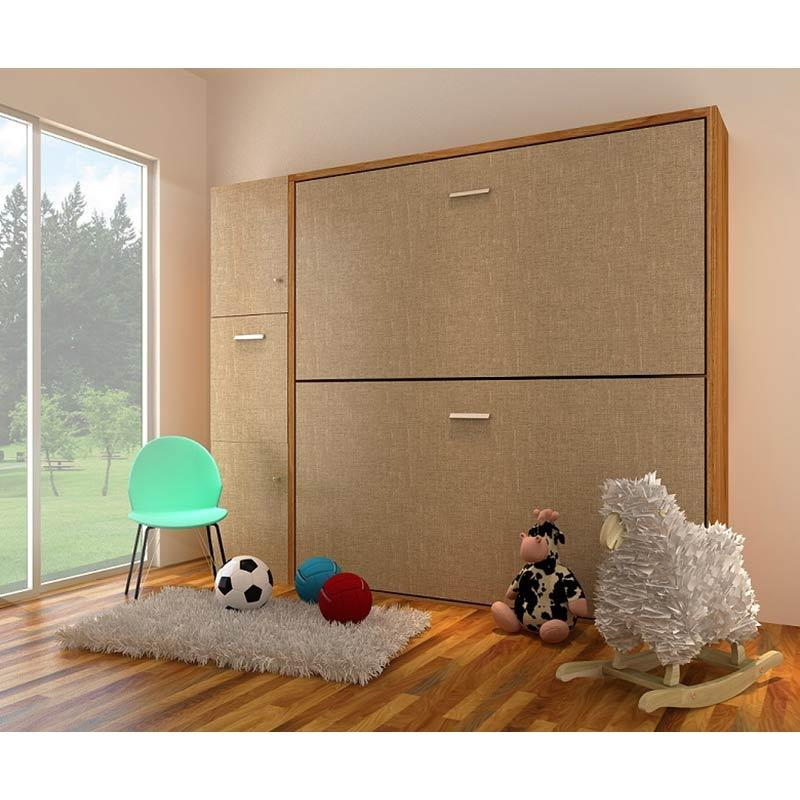 Futurnitur Double Deck Bed dan Lemari Bedroom Sets - Cream Dark Brown