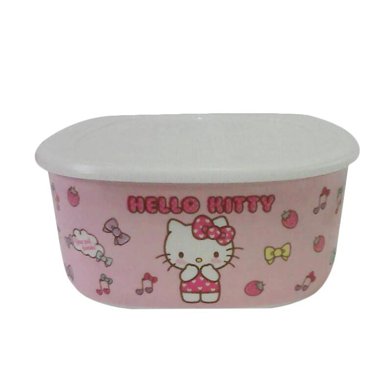 Hello Kitty Lunch Bowl - White Pink