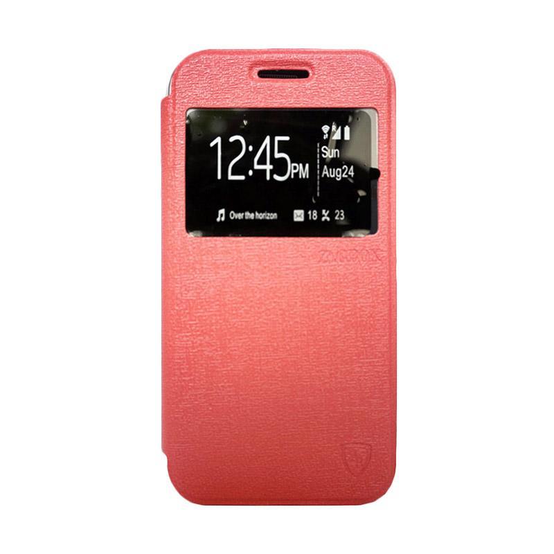 Zagbox Flip Cover Casing for Xiaomi Redmi Note 1 - Pink