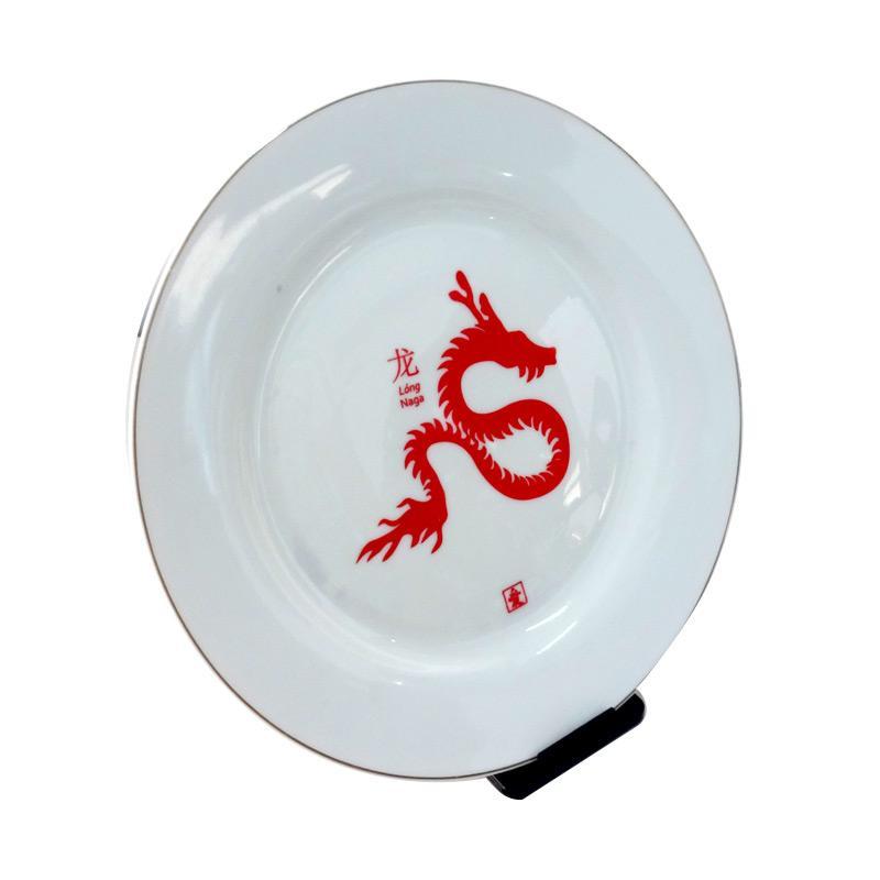 Ai Collection Naga Ceramic Piring - Merah