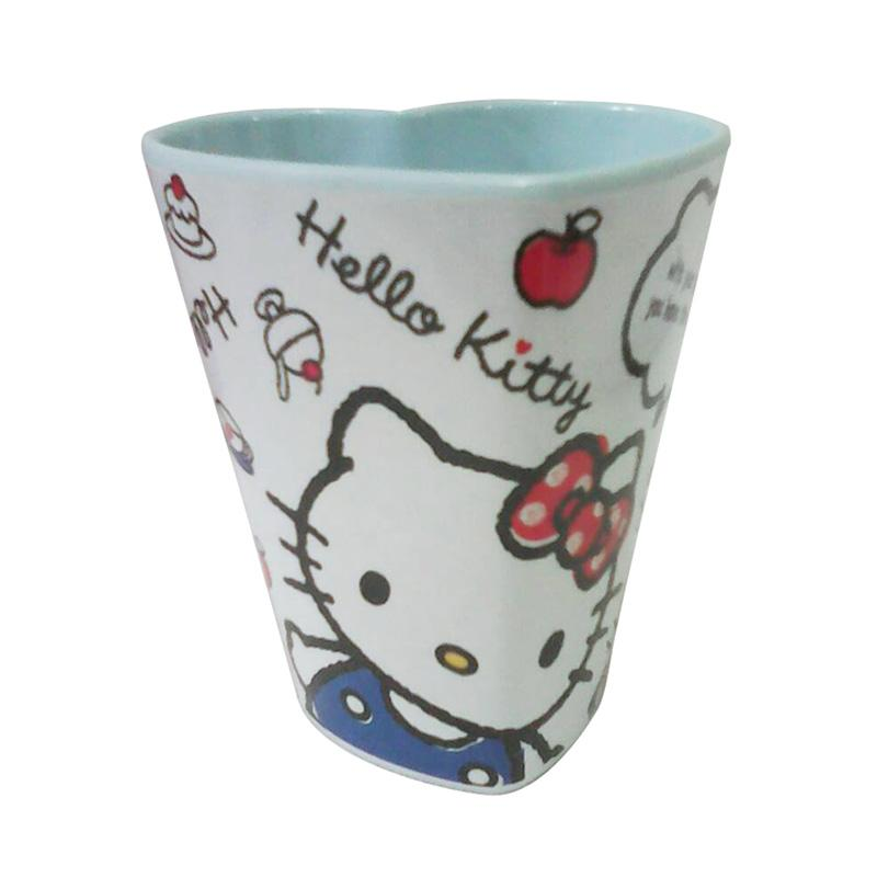 Hello Kitty HK Heart Gelas - White [350 mL]