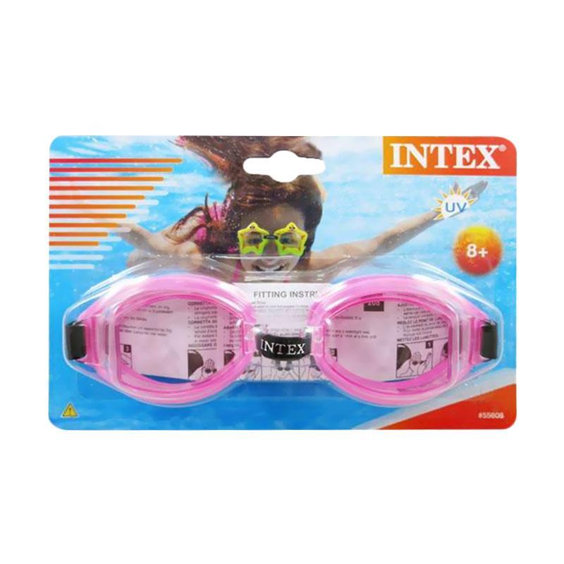 harga INTEX Kacamata Renang Anak 8 Tahun Splash Goggles 55608 Pink Original Item Blibli.com