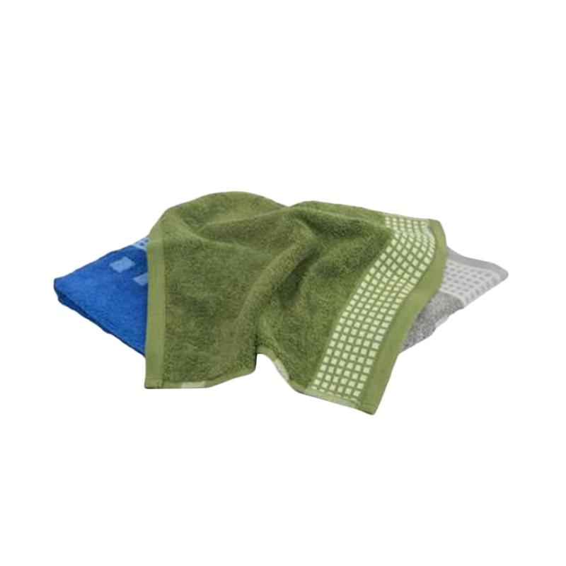 JYSK Kronborg Gold Bath Towel Handuk Mandi - Green [35 x 34 cm]