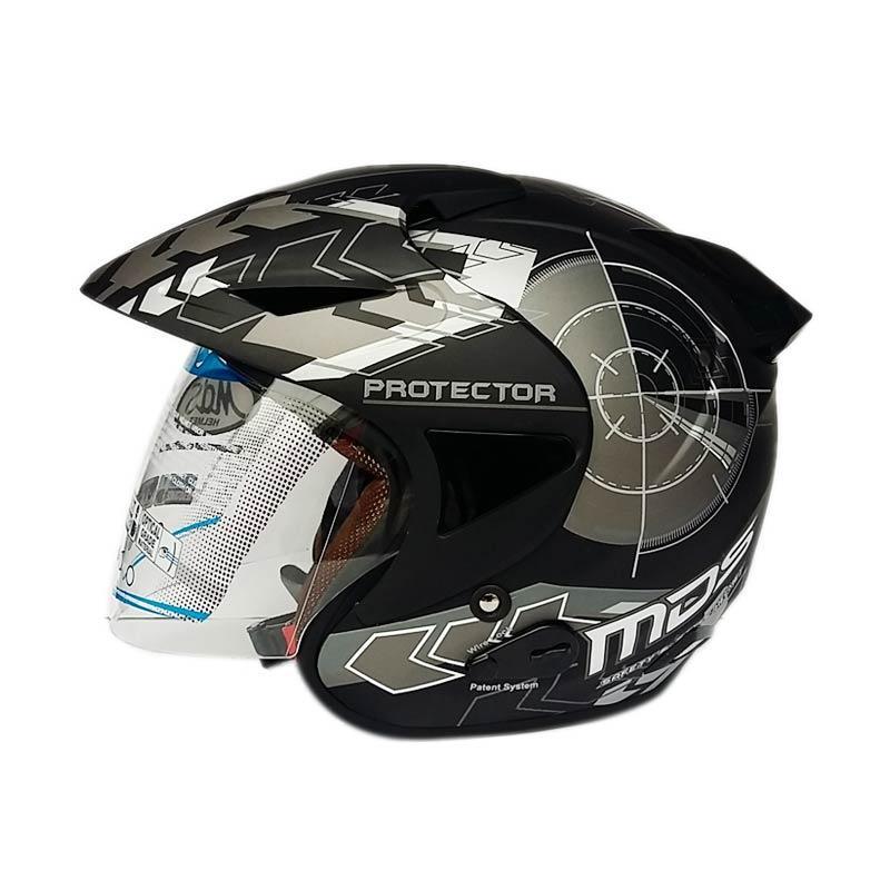 harga MDS Protector #2 Helm Half Face - Black/Gun Metal Doff Blibli.com