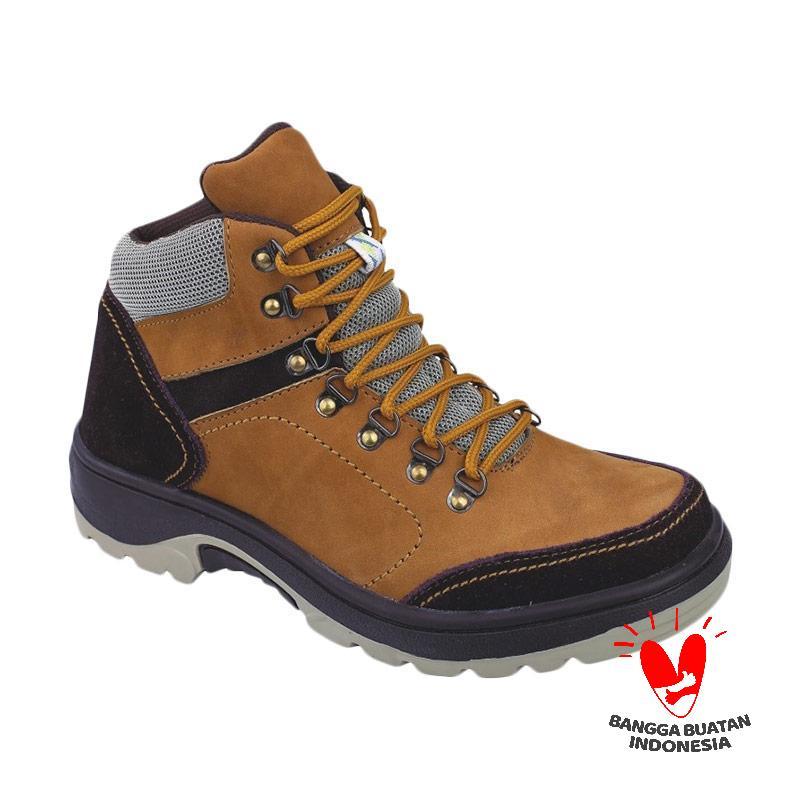 Raindoz RRI 001 Argon Kulit Sepatu Boots - Tan