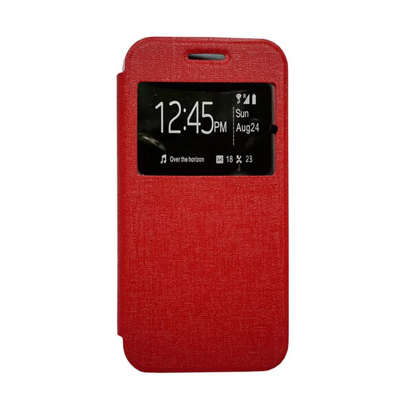 Zagbox Flip Cover Casing for Infinix Hot Note - Merah