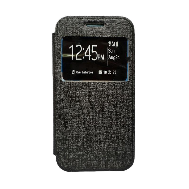 Zagbox Flip Cover Casing for Samsung Galaxy E7 - Hitam