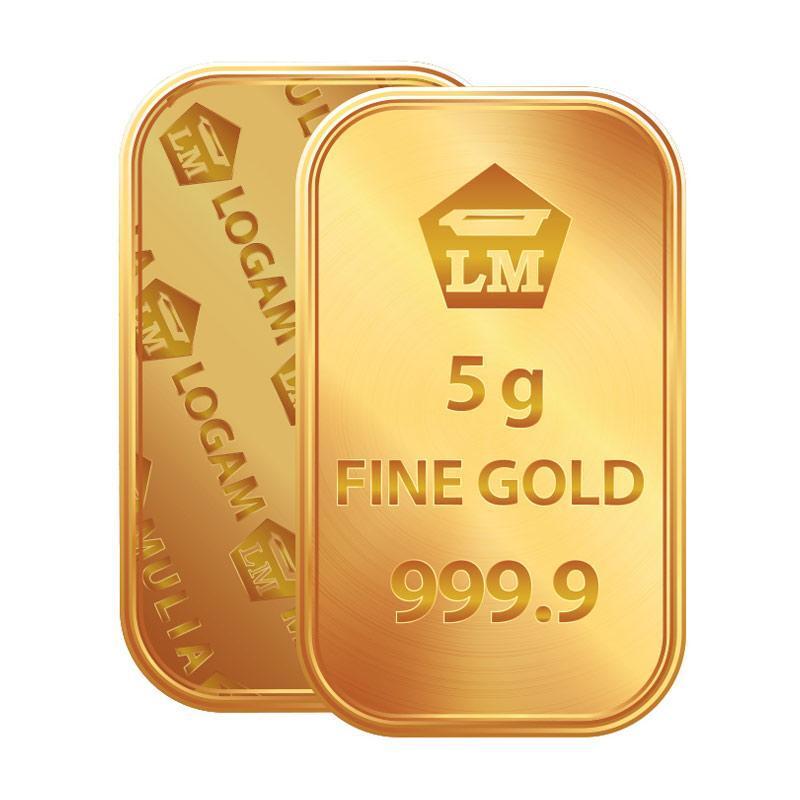 Antam Logam Mulia Keping Emas [5 g/ 999.9% Fine Gold Certificate]