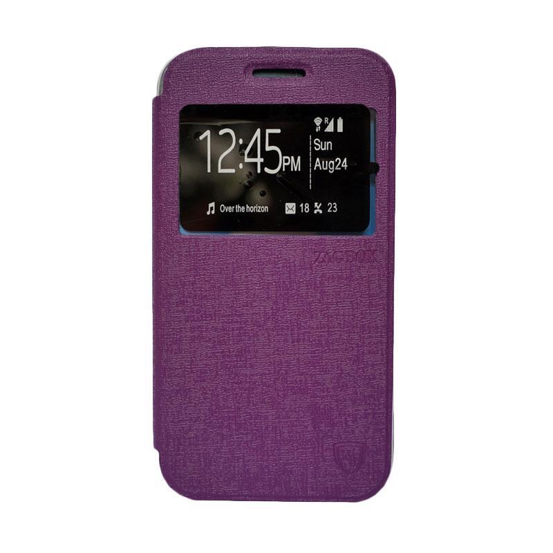 Zagbox Flip Cover Casing for Samsung Galaxy E5 - Ungu