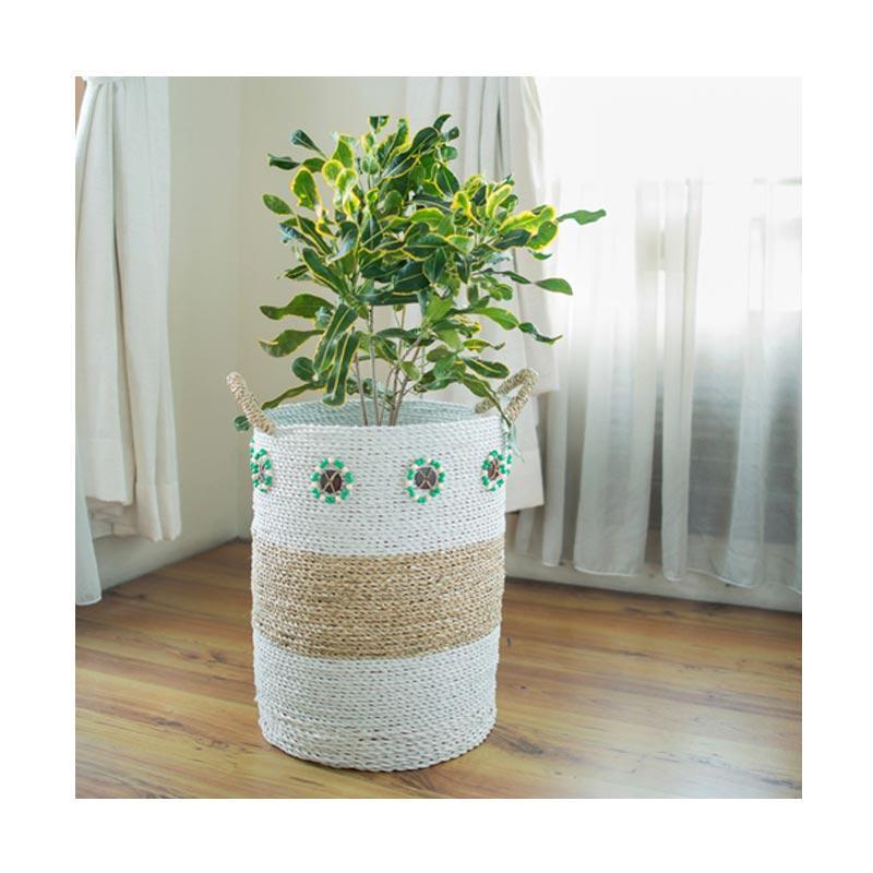 Bateeq Home Seagrass Raffia Round Basket