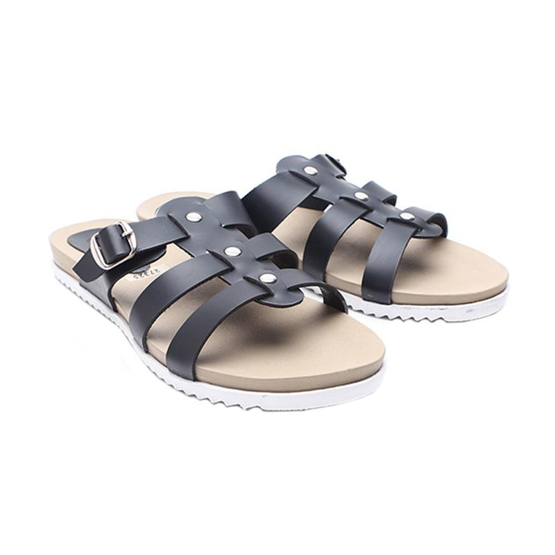 Dr.Kevin 27325 Leather Women Flat Sandals - Black