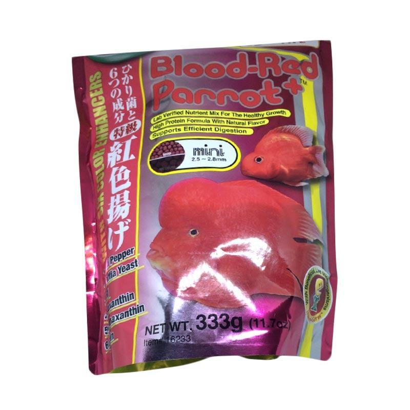 Hikari Blood Red Parrot+ Mini Pakan Ikan [333 g/2.5 - 2.8 mm]