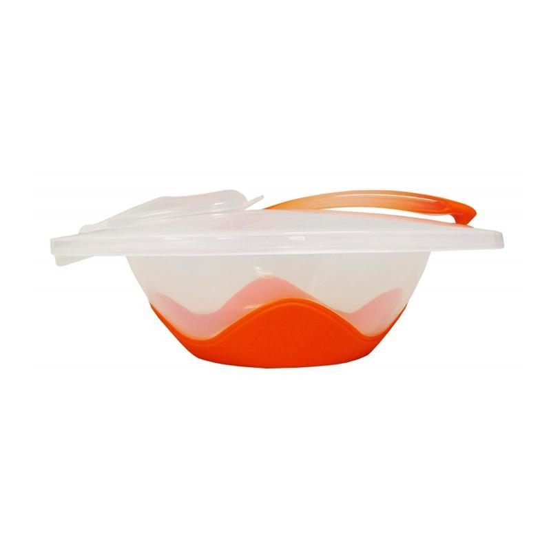 Lucky Baby Dimple Non Slip Bowl - Orange