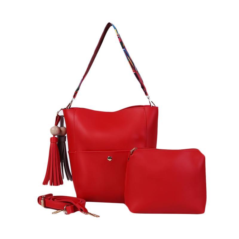 Ronaco Vanessa Tote Bag 2in1 Tas Wanita - Merah