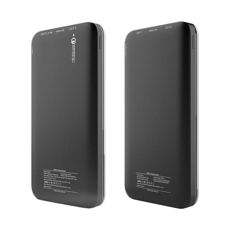 Totu Delight Series QC 3.0 Powerbank - Black [10.000 mAh]