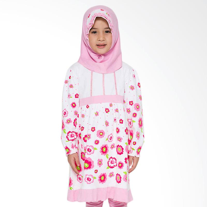 4 You Sweet Flower Moslem Long Dress - Pink