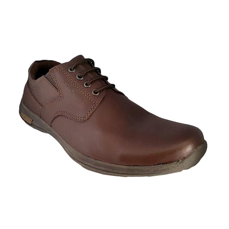Formen FM 01 Kulit Dress Loafers - Dark Brown
