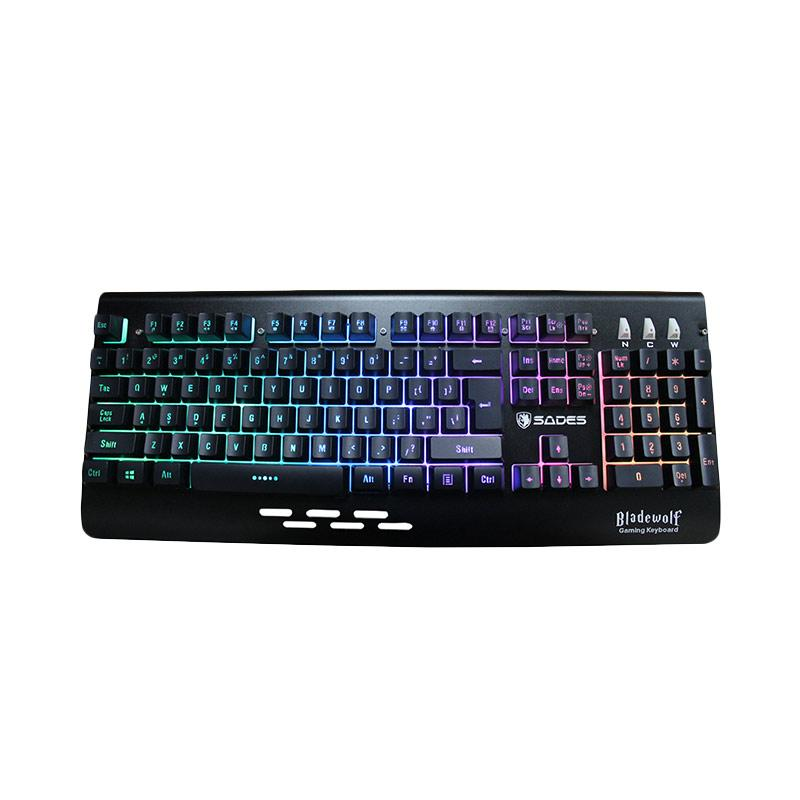 Sades Bladewolf Rainbow Gaming Keyboard - Hitam - 9281165 , 15437816 , 337_15437816 , 3006000 , Sades-Bladewolf-Rainbow-Gaming-Keyboard-Hitam-337_15437816 , blibli.com , Sades Bladewolf Rainbow Gaming Keyboard - Hitam