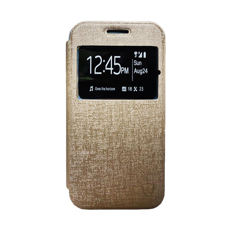 Zagbox Flip Cover Samsung Galaxy A510 A5 2016 - Gold
