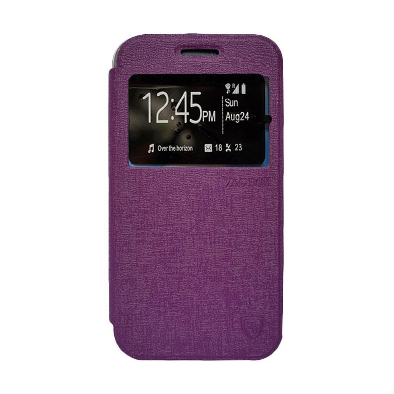 Zagbox Flip Cover Casing for Samsung Galaxy E7 - Ungu