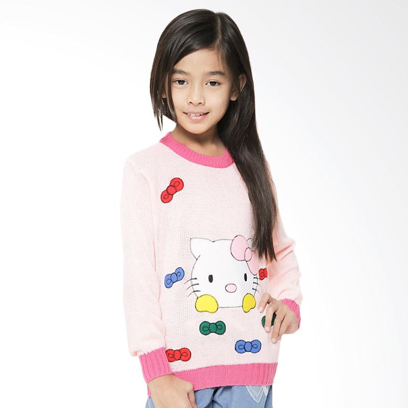 AdamsbellKitty Katun Sweater Anak - Pink