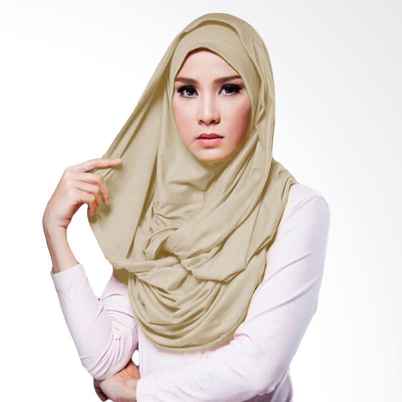 Milyarda Hijab Hana Twist - Coklat muda ...