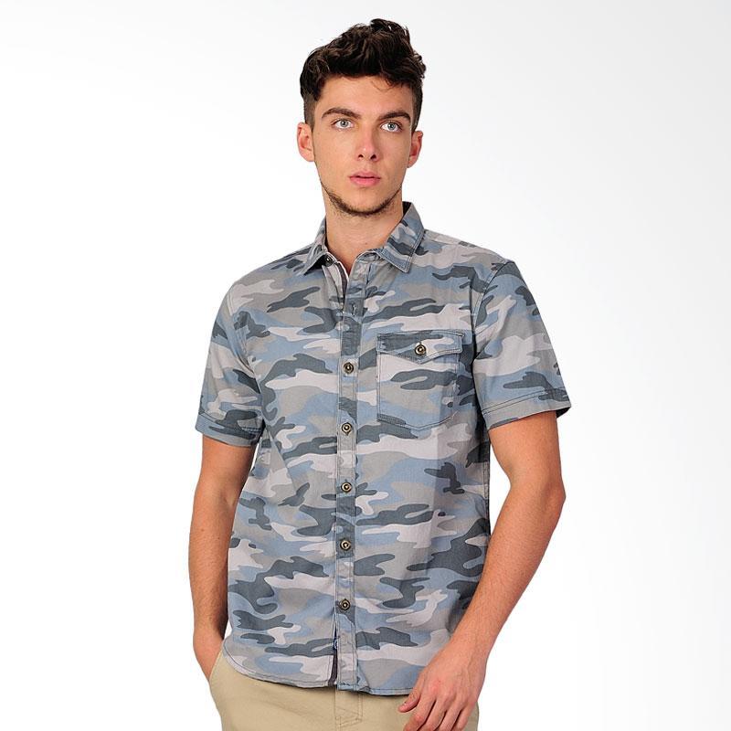 SJO & SIMPAPLY New Tanaska Army Men's Shirt Kemeja Pria - Grey