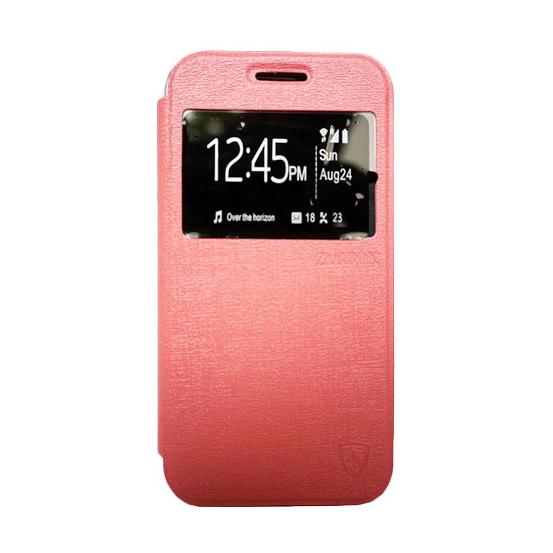 ZAGBOX Flip Cover Casing for Samsung Galaxy S7 - Pink