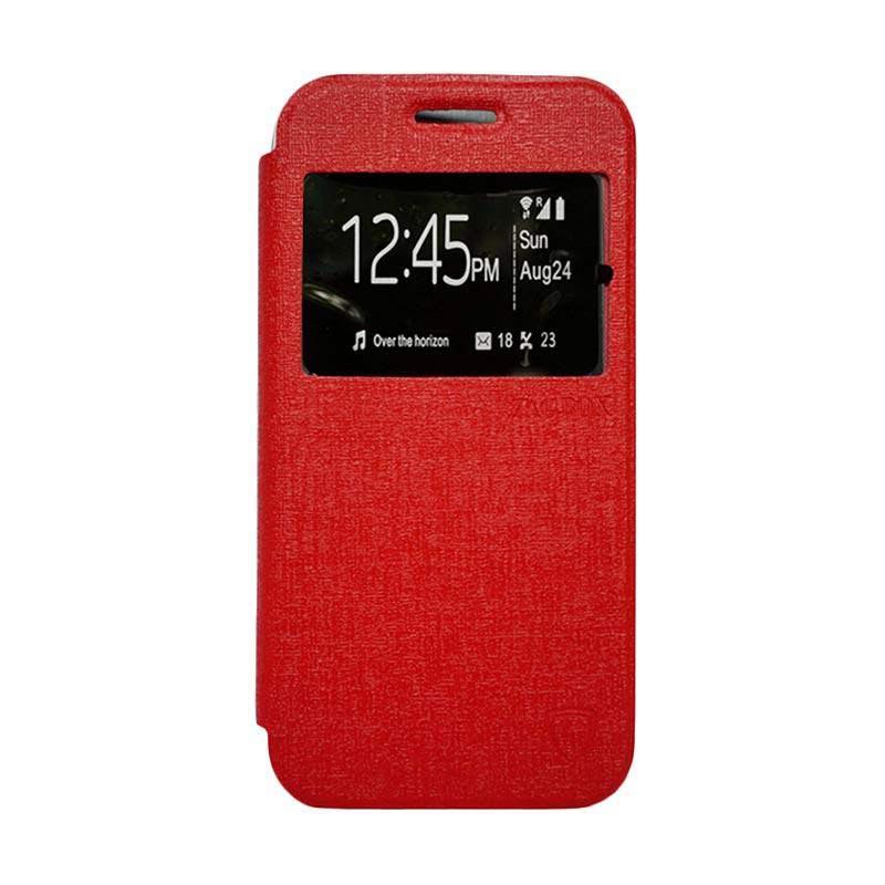 Zagbox Flip Cover Casing for Xiaomi Redmi Note 2 - Merah
