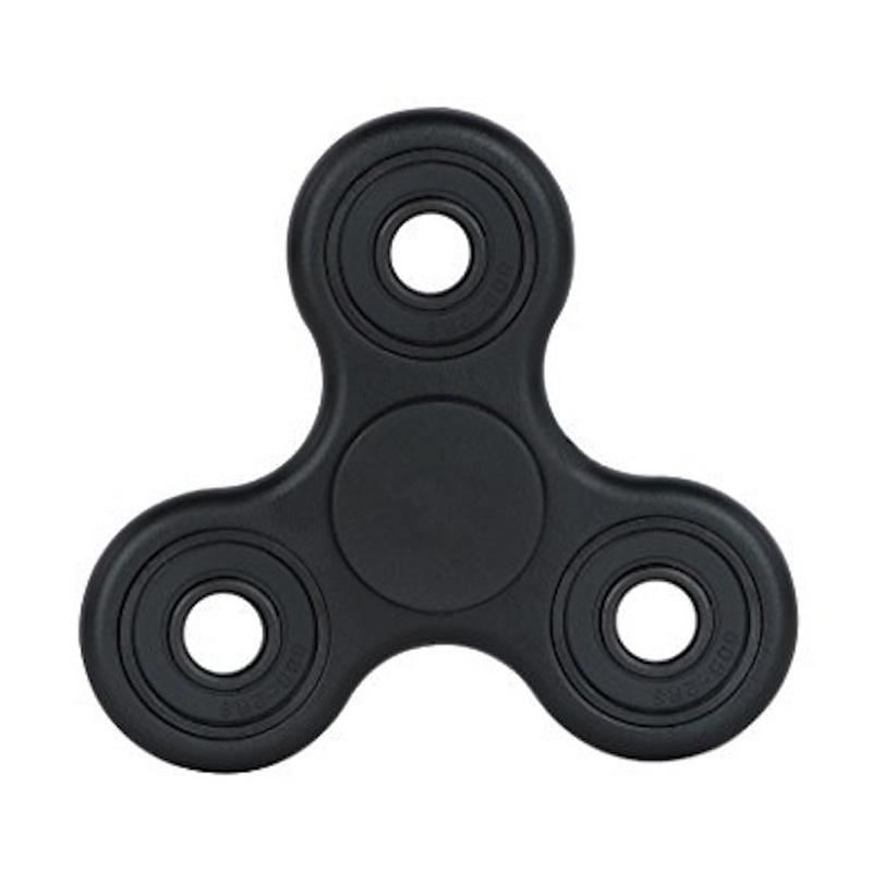 3T Metal Hand Toys Mainan Tri-Spinner EDC Ceramic Ball Focus Games Fidget Spinner - Hitam