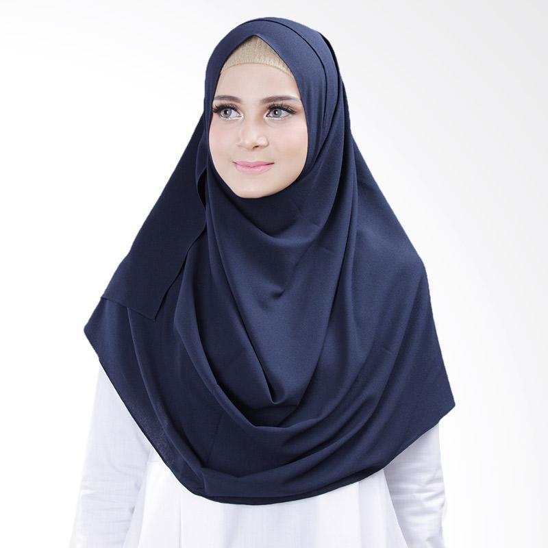Cantik Kerudung Bella 2 Face Hijab Instant - Navy No.9