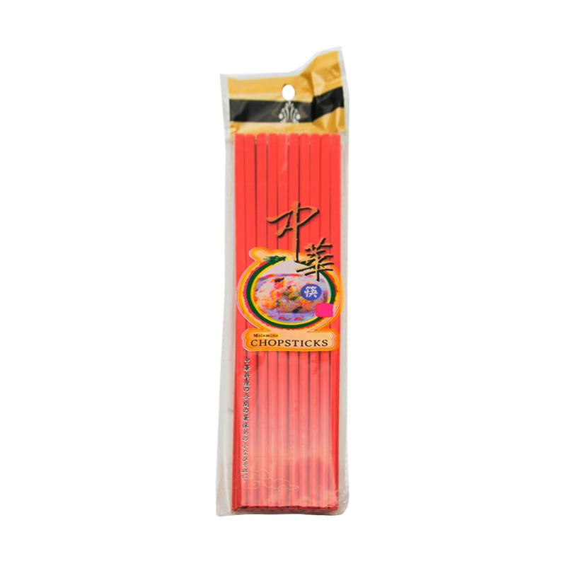 HAN Sumpit Melamine - Merah [24 cm/ 10 Pasang/6 Pcs]