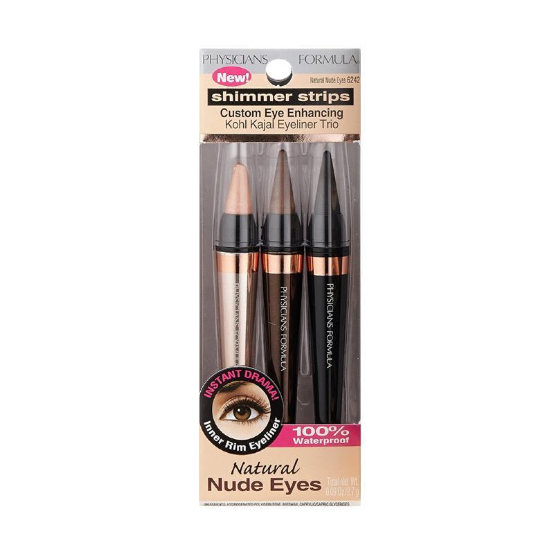 Physicians Formula Shimmer Strips Custom Eye Enhancing Kohl Kajal Trio Eyeliner - Natural Nude Eyes [2.7 g/ 3 Pcs]
