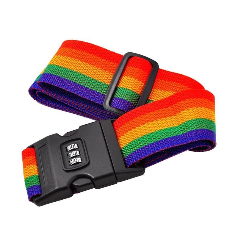 28fashion Motif Rainbow Luggage Belt Tali Koper