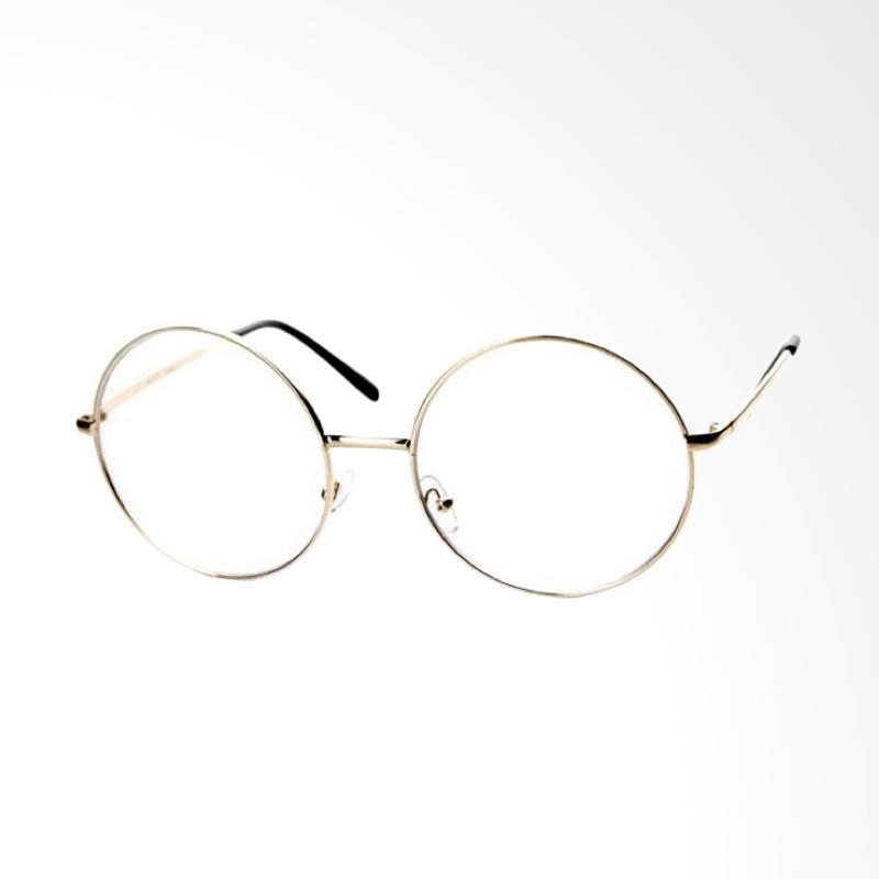 Jual OEM Bulat Korea Kacamata - Transparent  Frame Gold  RD124 Online -  Harga   Kualitas Terjamin  1245bcc854
