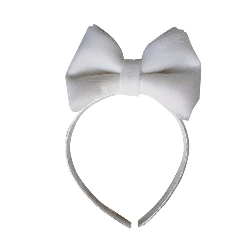 Essentia Minnie Tulle Hairband - White