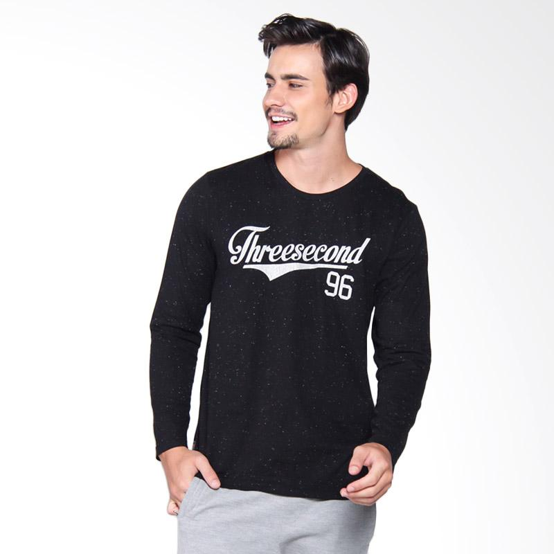 3Second Tshirt 3909 Kaos Pria - Black 139091712
