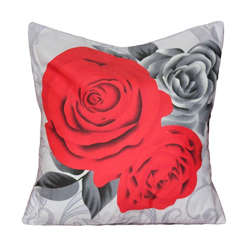 Monalisa Motif Black Rose Sarung Bantal Sofa [40 cm]