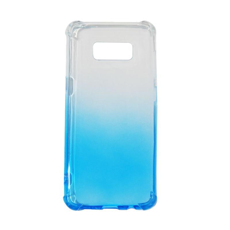 QCF BUY 1 GET 1 Softcase Anti Crack Anti Shock Warna Gradasi Casing for Samsung Galaxy S8 Silikon / Case Unik - Biru (Free Warna Random)