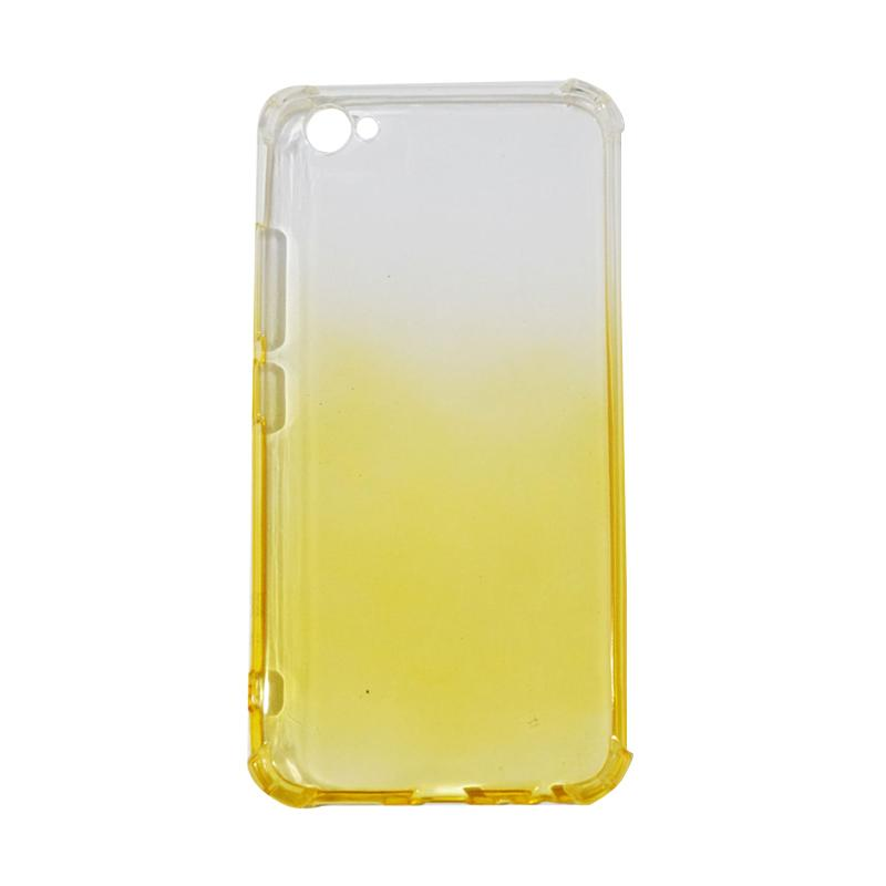 QCF BUY 1 GET 1 Softcase Anti Shock Anti Crack Warna Gradasi Casing for Vivo V5 Ultrathin / Case Unik - Kuning (Free Warna Random)