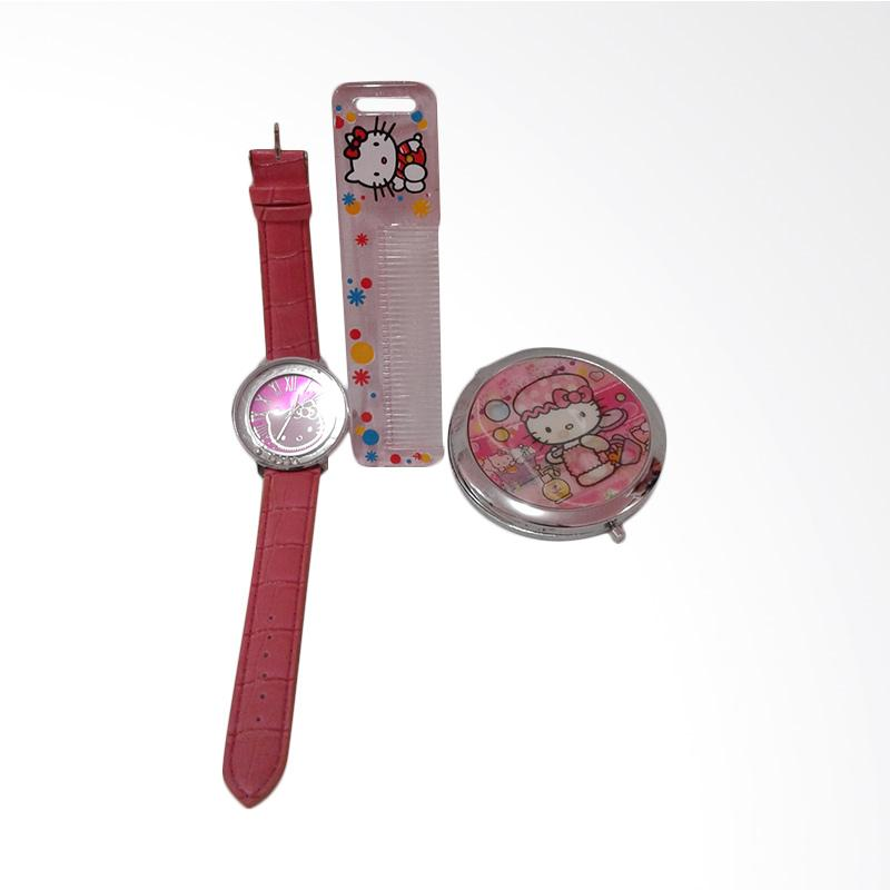 Hello Kitty HK-001 Paket Dandan Jam Tangan Wanita - Multicolor