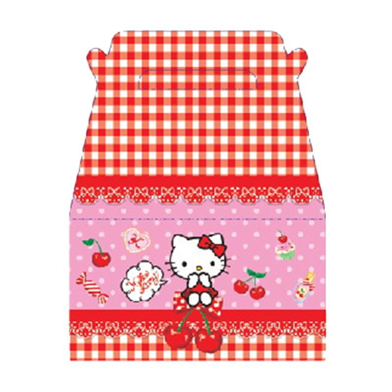 Buy 1 Get 1 - Something Sweet PB2013-KT001-SS Hello Kitty I love Cherry Pink Goody Box [1 pack isi 6 pcs]