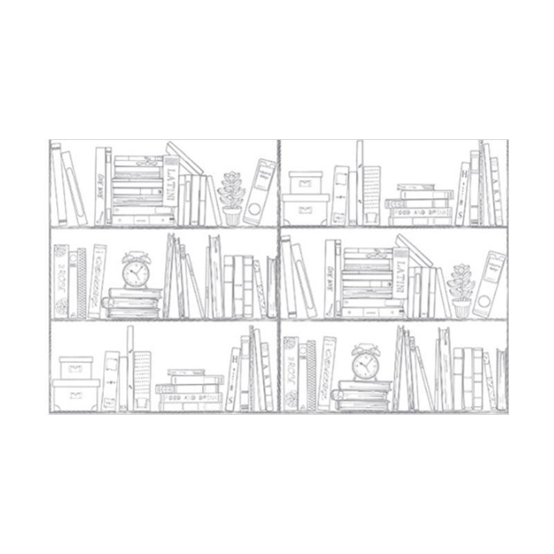 Hyundae Fixpix Study Room HWP 21643 Wallpaper - Grey Marble