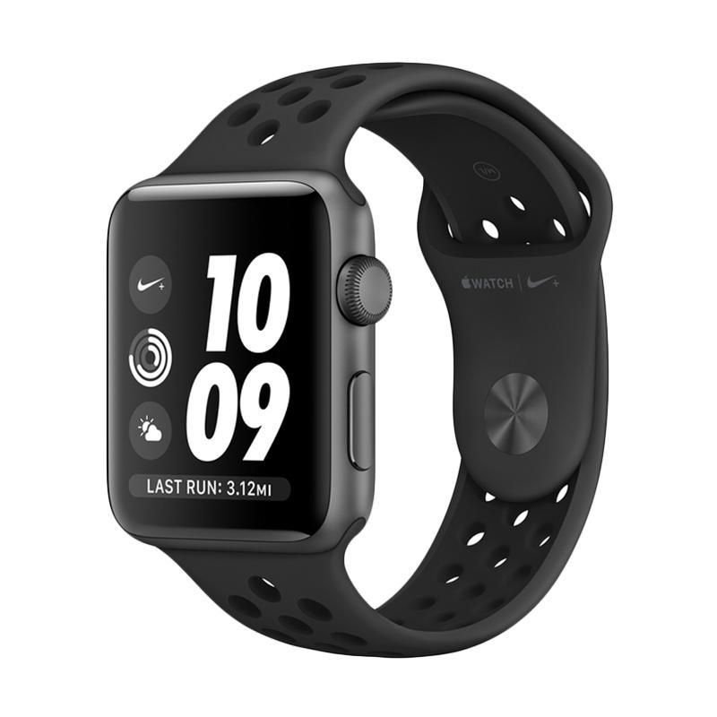 harga Apple Watch Series 3 GPS Nike+ 38mm Grey Black Anthracite Sport Band [MQKY2] Blibli.com