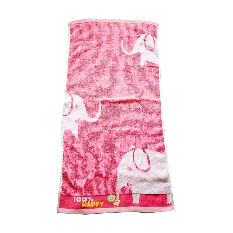 Dixon Happy Elephant 7066 Handuk Sport - Pink [35 x 80 cm]