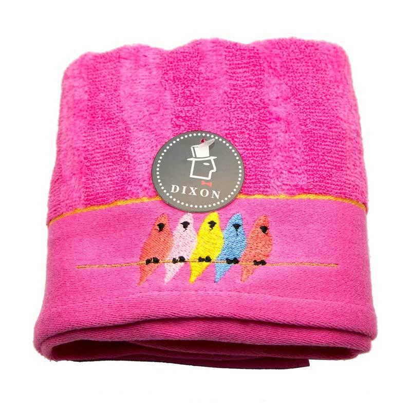 Dixon Bird Embroidery 7085 Handuk Sport - Pink [35 x 80 cm]