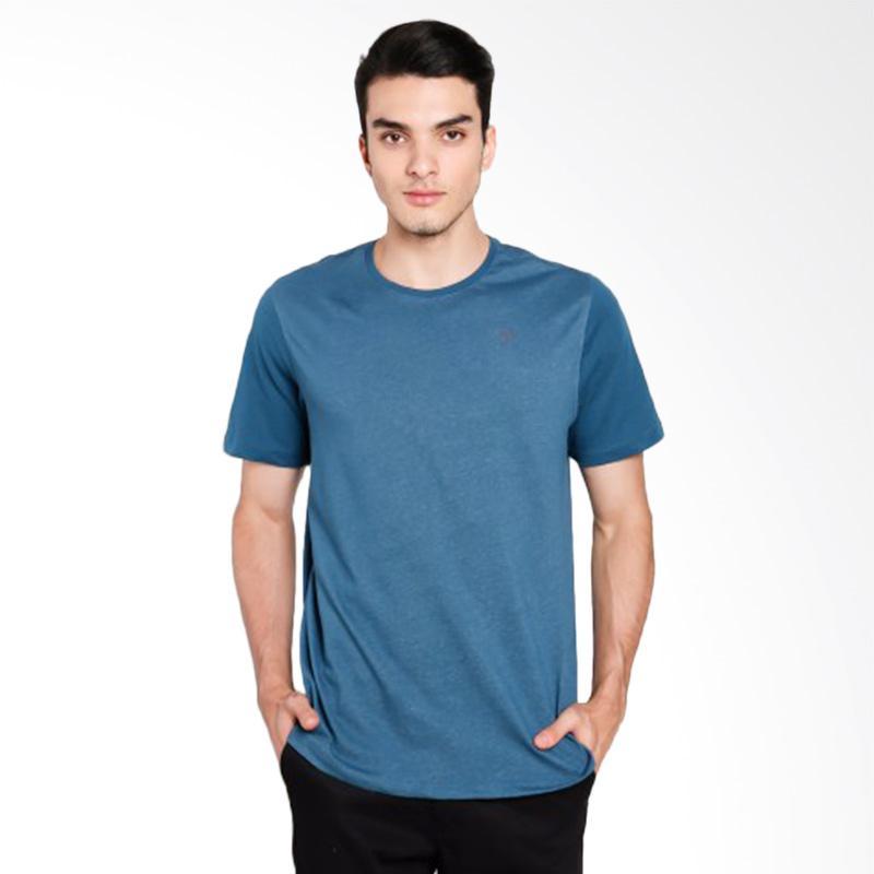 Hurley DF Snapper Crew Space T-Shirt Kaos Pria - Blue [MKT0006210_4JD]